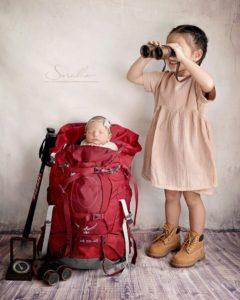 น้องริชา - น้องลิษา ถ่ายแบบสุดน่ารัก ธีมนักเดินทางตัวจิ๋ว